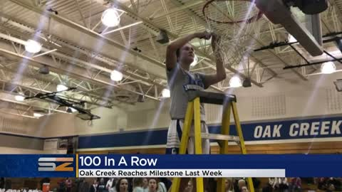 Oak Creek girls basketball team celebrates 100 straight conference...